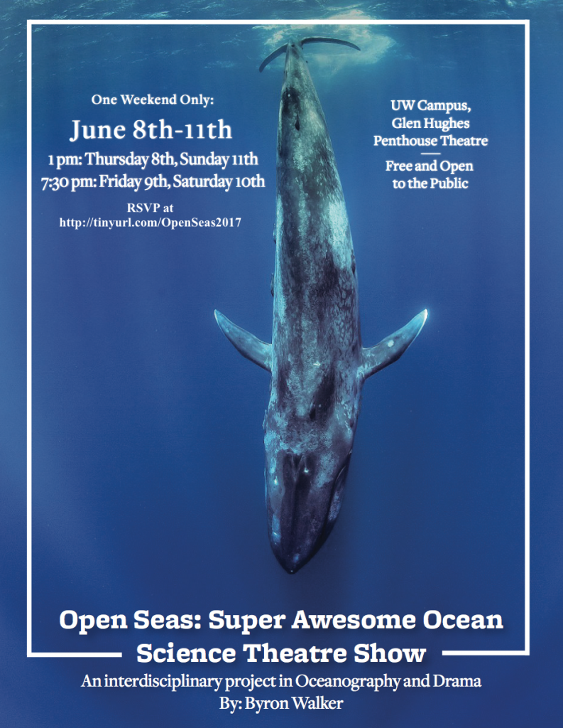 Promotional poster of Open Seas with a picture of a whale