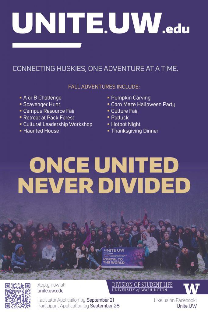Flyer for Unite UW