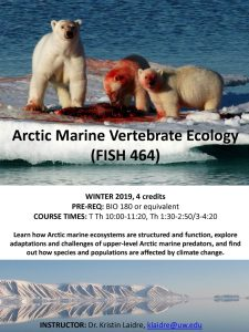 course flyer for FISH 464 winter 2019