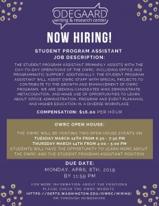 OWC student program assistant