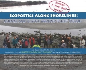 course flyer for ecopoetics summer course
