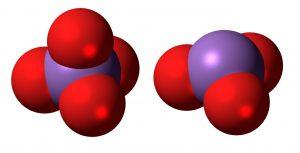 visual representation of arsenate and arsenite molecules