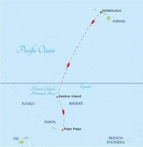 Cruise track of the SSV Robert C. Seamans