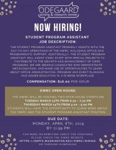 OWC student program assistant