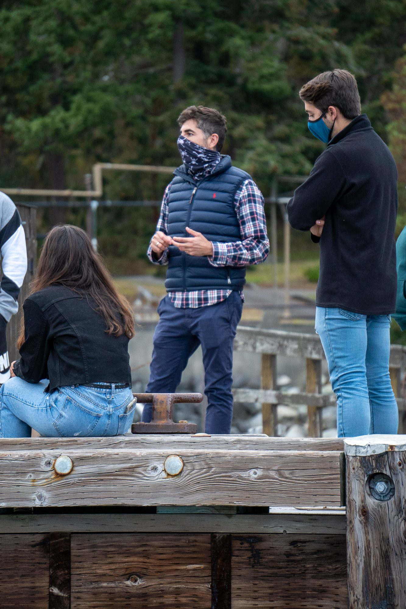 José Guzman instructing the class from the FHL dock.